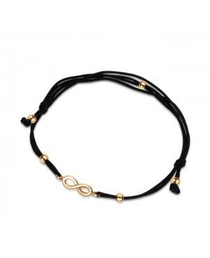 Złota bransoletka na sznurku